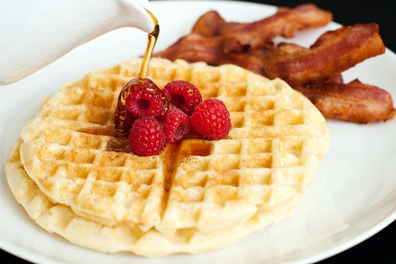 waffle recipe | use real butter (add cinnamon + nutmeg for Roscoes-ish waffles)