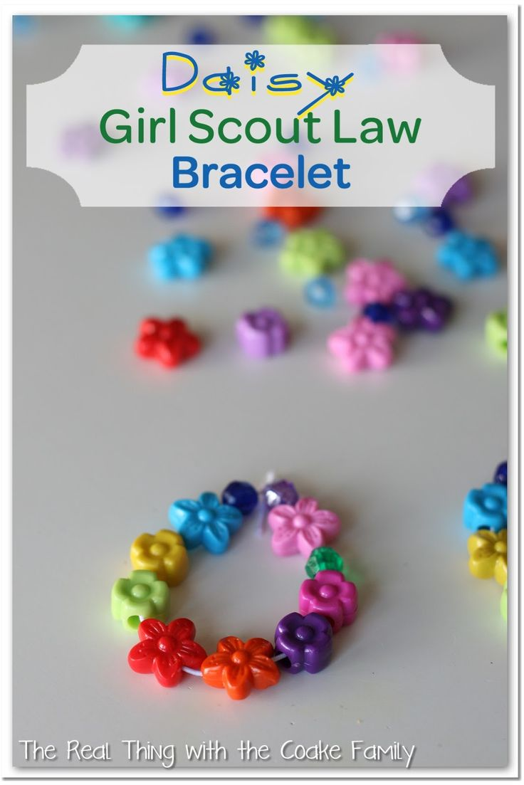 Daisy Girl Scout Law/Promise Bracelet #girlscout #daisy @realcoake