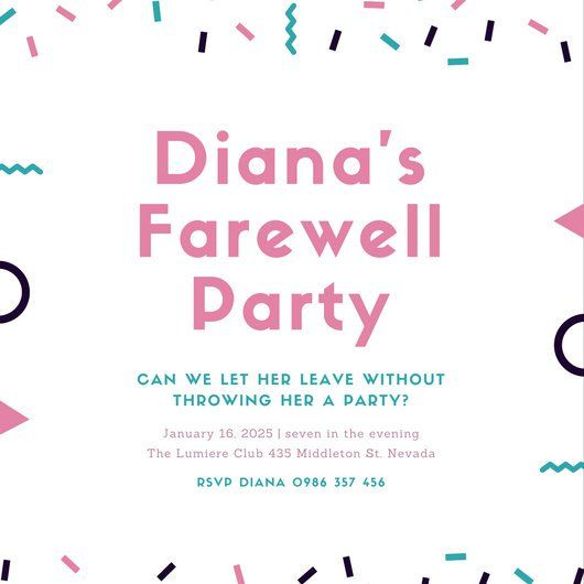 The 25+ best Farewell party invitations ideas on Pinterest - farewell card template