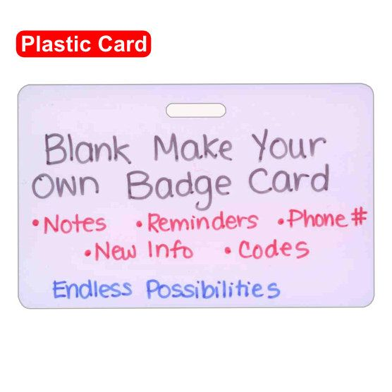 Blank Plastic Make Your Own Badge Card Horizontal for Nurse Paramedic EMT for ID Badge Clip Strap or Reel by scrubsandstuff on Etsy https://www.etsy.com/listing/130112175/blank-plastic-make-your-own-badge-card