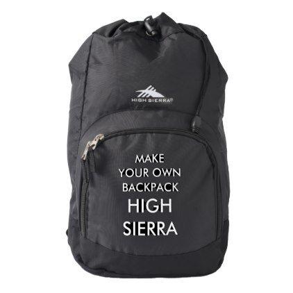 Custom Personalized Black High Sierra Backpack - create your own gifts personalize cyo custom