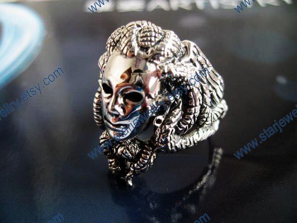 Steampunk snake ring Snake hair witch Medusa ring---925sterling ring by StarJewellry on Etsy https://www.etsy.com/listing/118696677/steampunk-snake-ring-snake-hair-witch