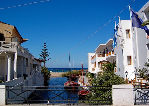 The village of Kalives on the Greek island of Crete