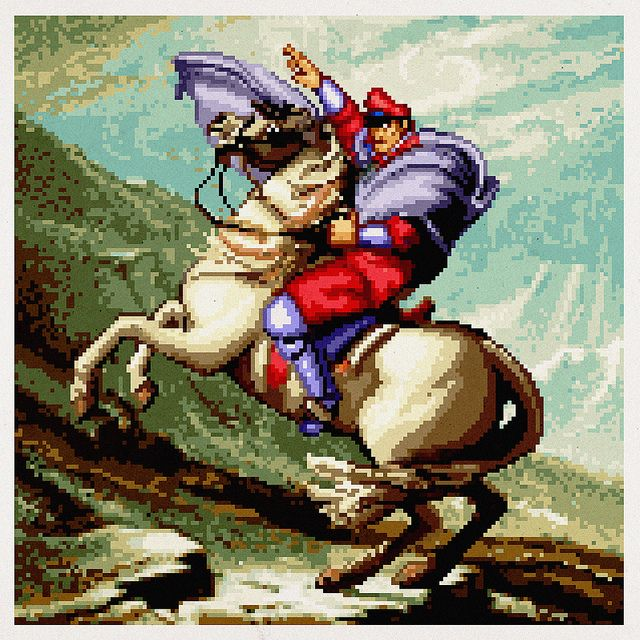 M. Bison Crossing The Alps, 1991 by fatheed, via Flickr