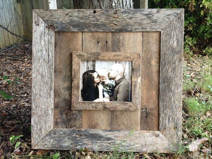 Natural 8x10 Barn Wood Picture Frame. $150.00, via Etsy.