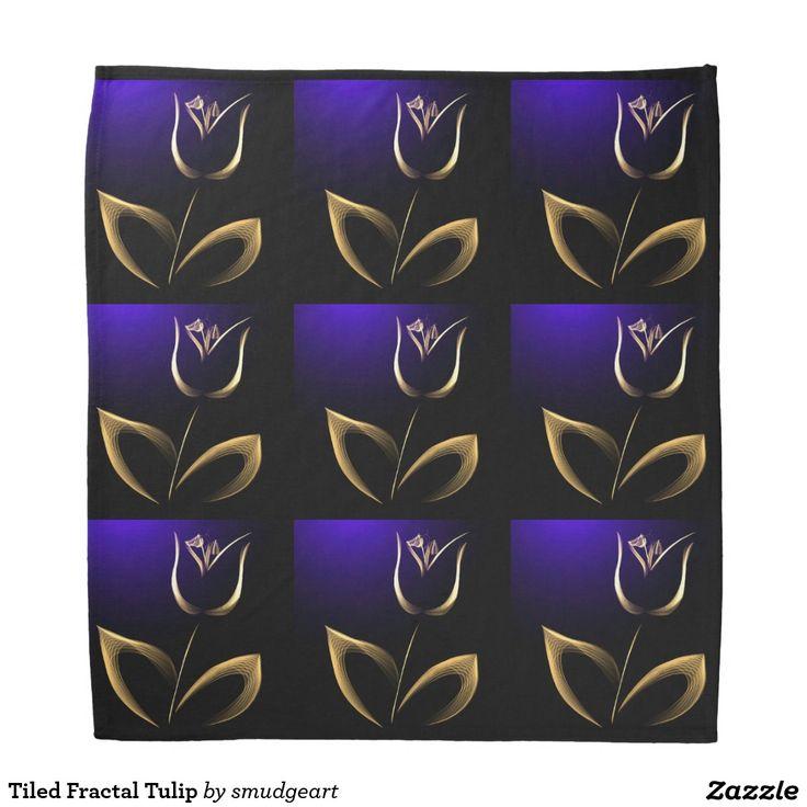Tiled Fractal Tulip Bandana