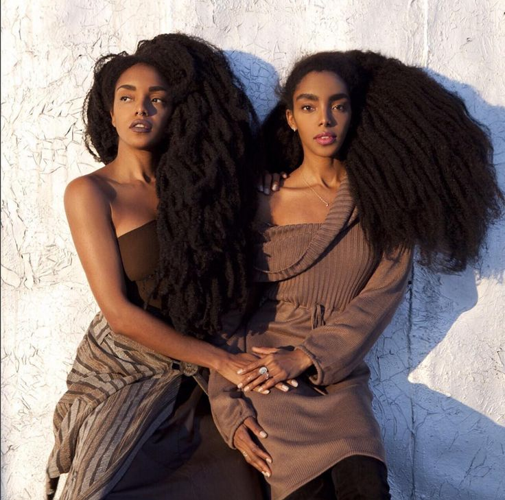 "naturalhairqueens: "" Their hair is proof that 4C hair can grow to long lengths. It is seriously so beautiful and so thick! (All their real natural hair)"""