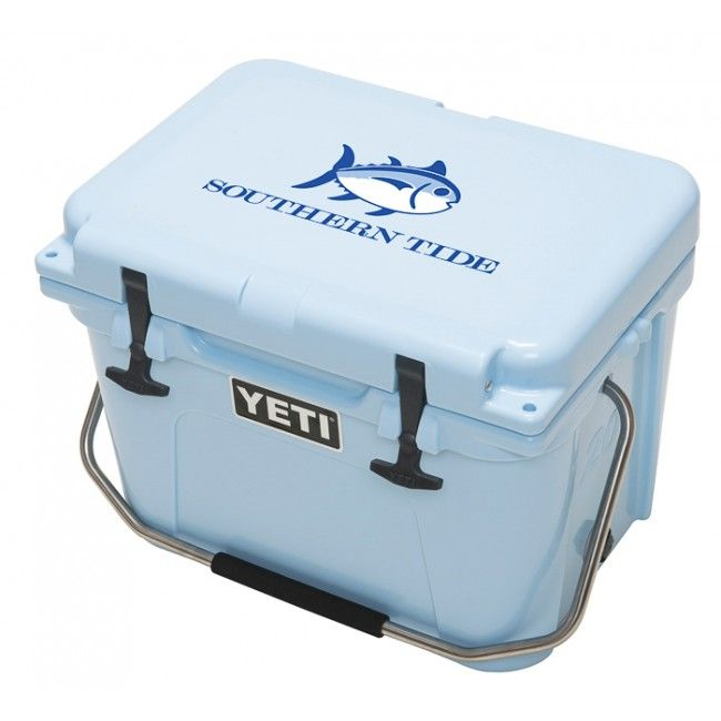 Southern Tide Skipjack YETI Cooler now available in Ice Blue