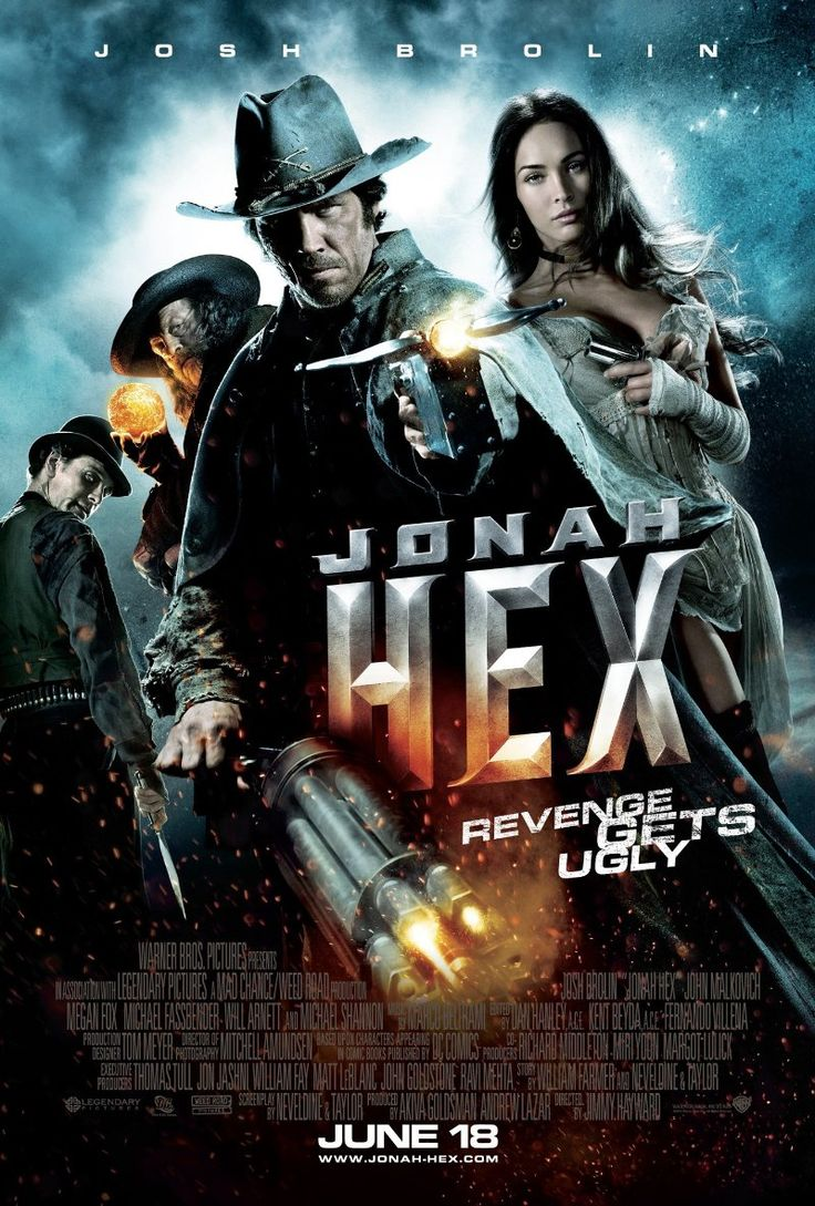 Jonah Hex (2 stars) Proof positive that just because it is based on a comic doesn't mean it will translate well in a movie. With an all-star cast, this should have been better. The story here is too simple: revenge on the man who killed his family. There is no depth, no opportunity to know and connect with the characters. The action is fast-paced but the run time hinders anything solid from occurring. When even Megan Fox's beauty can't give this a bump, you know there just isn't much here.