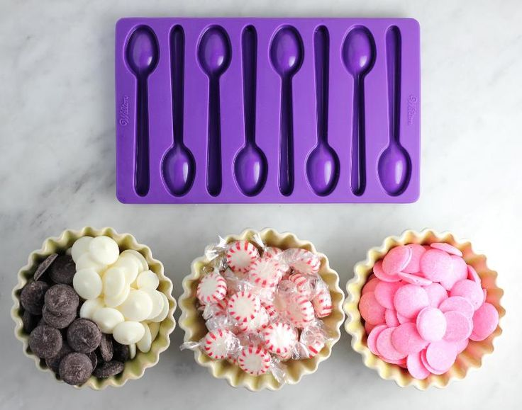 Edible Spoons Made of Candy and Chocolate