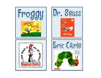 Cute FREE Classroom Library Labels                                                                                                                                                                                 More