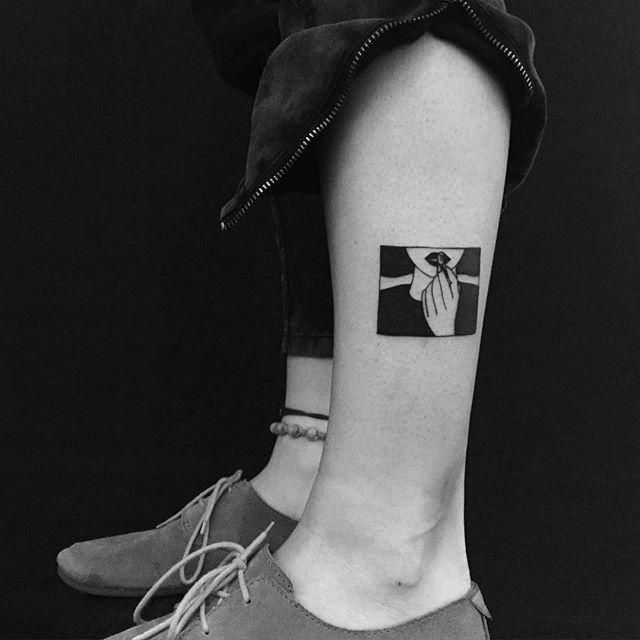 Tiny and Small Tattoo design & Model for 2017 Image Description Minimal Tattoo By Yi Stropky - tattooideas22.com...