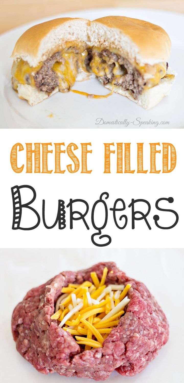 Cheese Filled Burgers with Barbecue Ranch Dressing. Another delicious stuffed hamburger option. YUMMY YUMMY!!