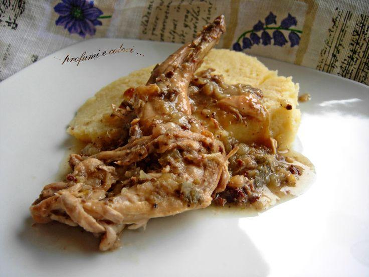 Profumi e colori: Polenta di patate concia e con coniglio