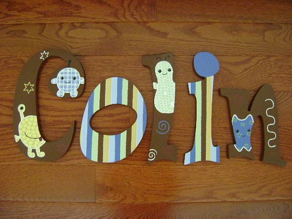 HandPainted Personalized Wood Letters to by SweetDreamsLetters, $15.49