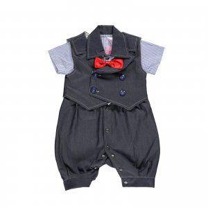 10016 Neşelibebek&Babyfun Erkek Mavi Little Man Papyonlu Kot TakımÖzel Kostümler 50-100 TL