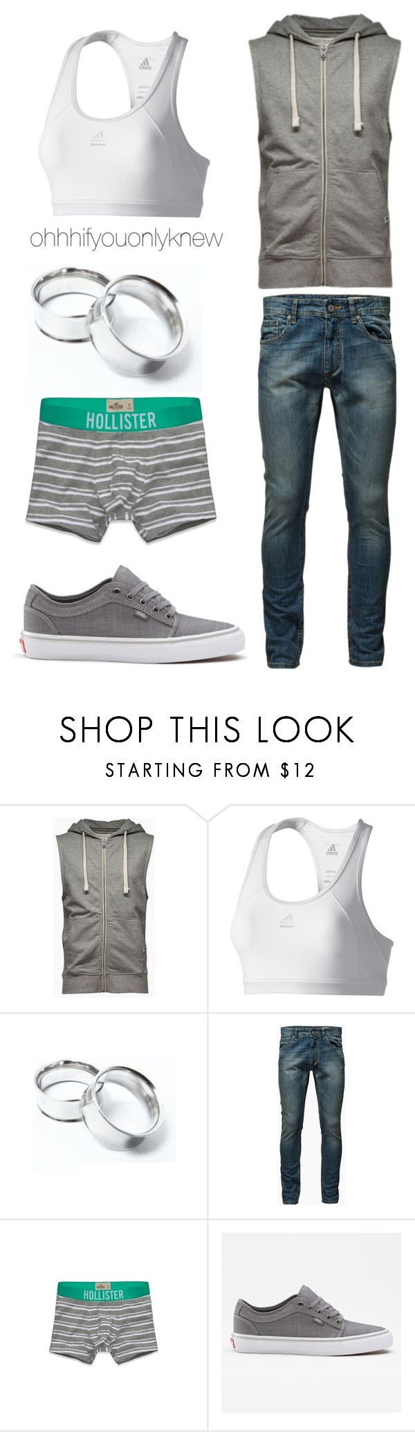 """""""Untitled #175"""" by ohhhifyouonlyknew ❤ liked on Polyvore featuring adidas, Jack & Jones and Hollister Co."""