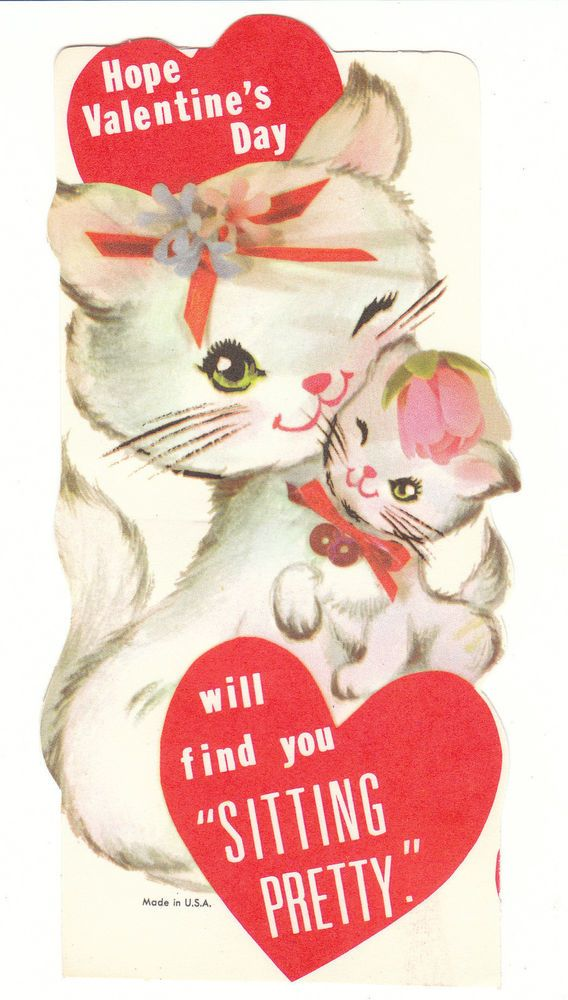 503 Best Vintage Valentine Cards Cats Images On