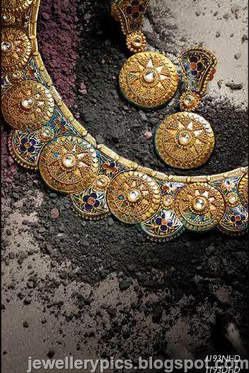 Rajastani Meenakari jewellery sets by Tanishq - Latest Jewellery Designs