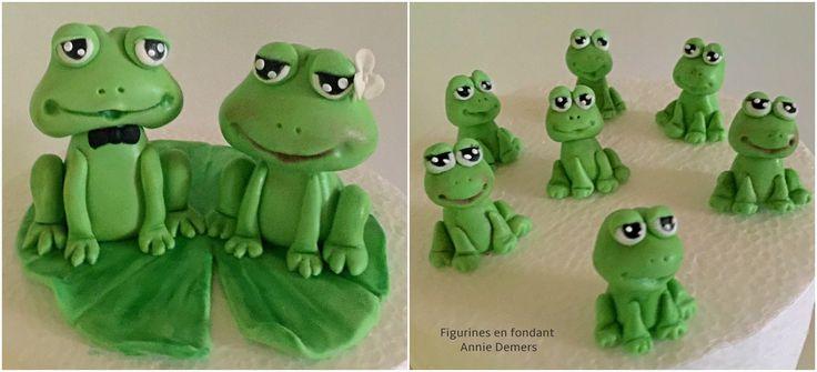 weeding cake topper frog grenouilles  https://www.facebook.com/figurinesanniedemers