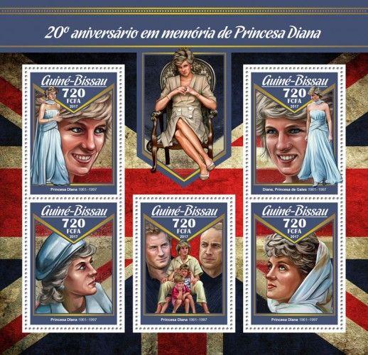 GB17002a 20th memorial anniversary of Princess Diana (Princess Diana (1961–1997); Diana Spencer, the Princess of Wales (1961–1997))