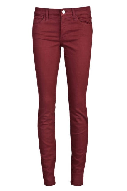 Oxblood jeans a perfect statement to any top.