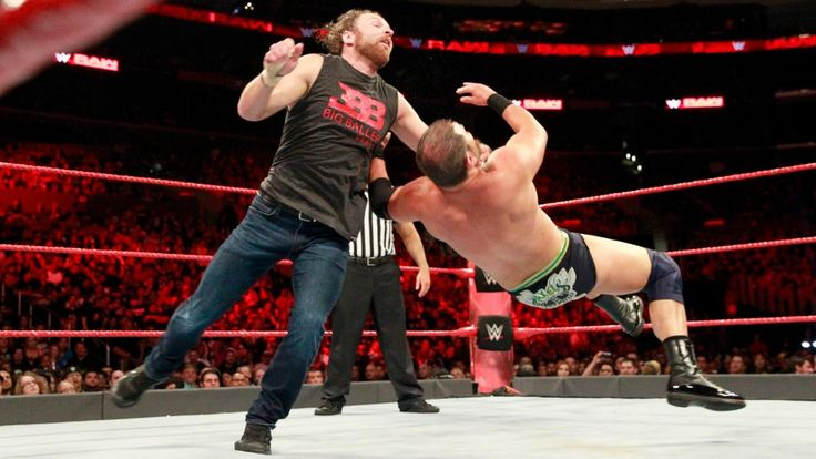 Raw 6/26/17: Dean Ambrose, Heath Slater & Rhyno vs. The Miz & The Miztourage