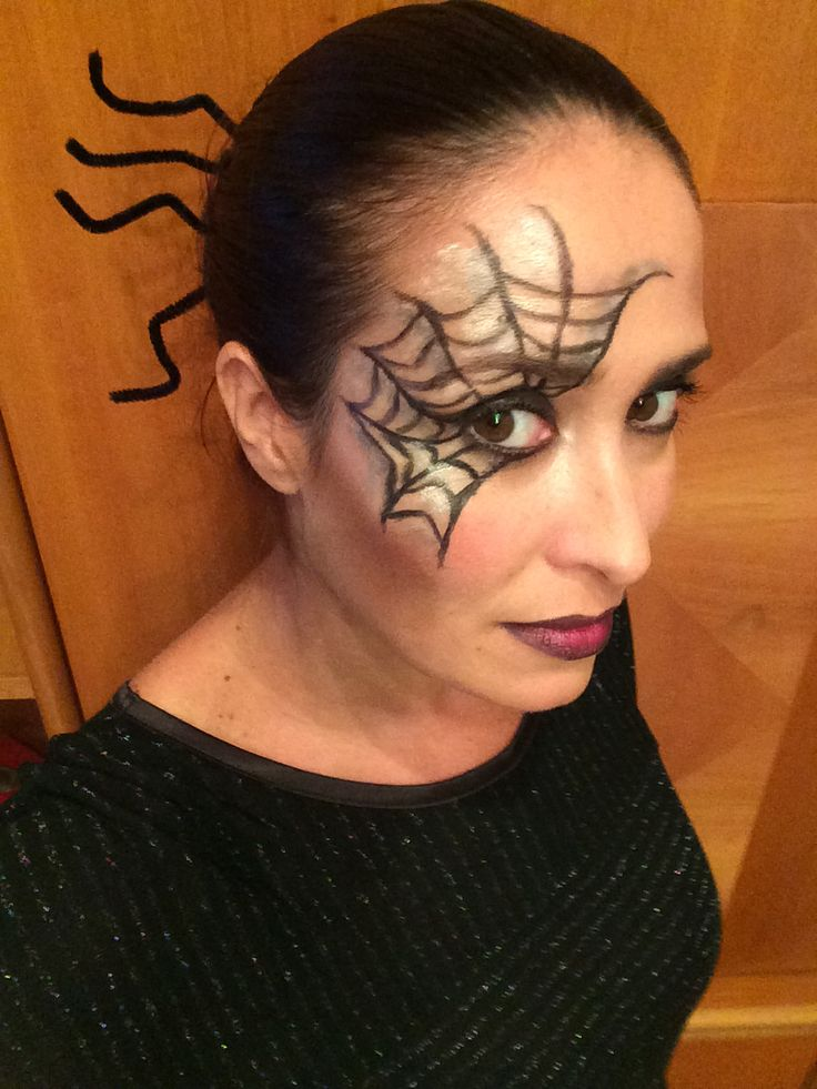 Halloween spider make up