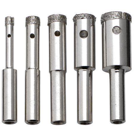 Neiko 00823a 5 Piece Diamond Grit Hole Saw Drill Bit Set Diy Bottle Lamp Drill Bit Sets Drilling Holes In Glass