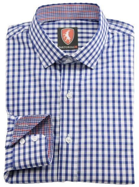 Blue & White gingham check - custom made for you
