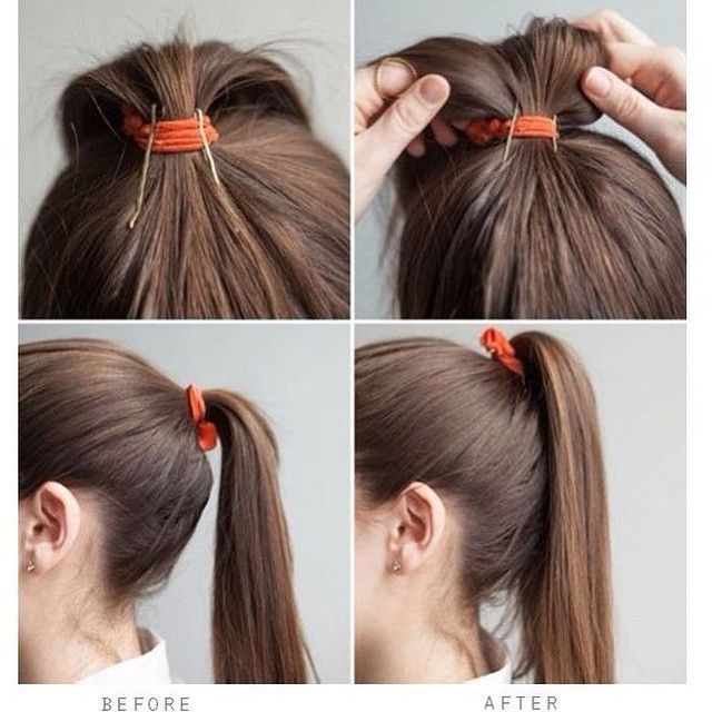 #HairHack! Give a limp ponytail a lift with two bobby pins.