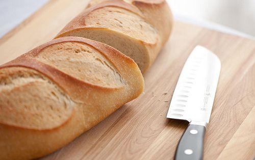 great, crusty bread - still warm! YUM
