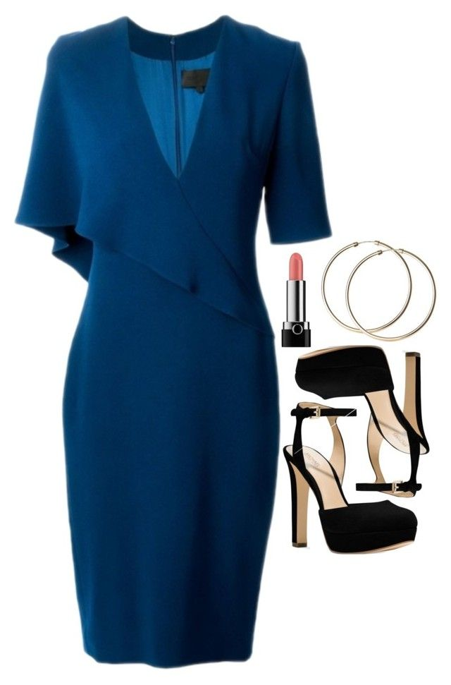 """Donna Paulsen Inspired Outfit"" by daniellakresovic ❤ liked on Polyvore featuring Cushnie Et Ochs, Marc and Michael Kors"
