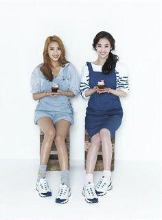 skechers d'lite korea | SISTAR members Bora and Dasom in Skechers D'lites Ad Campaign