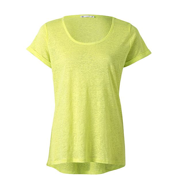 Short Sleeve Linen T-Shirt - Lime sizes 4-20 comes in pink and black and white too but love this lime paired with black/white - $20 linen - great shape great basic