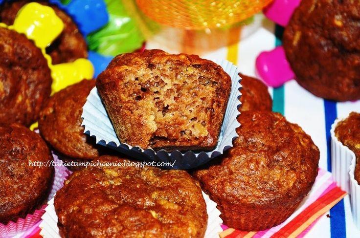 Smak, zapach, kolor, tradycja z nutką nowoczesności...: Muffiny z jabłkami-łatwe i szybkie mini szarlotki