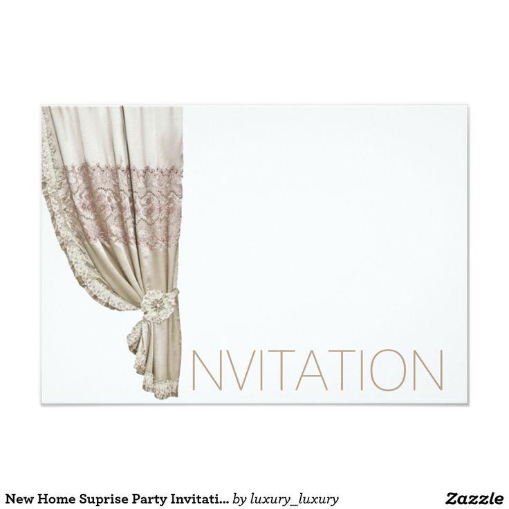 New Home Suprise Party Invitation Vip Invitation
