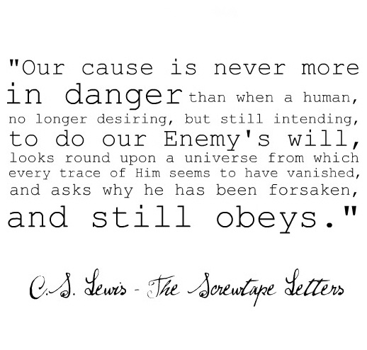"Lewis, ""The Screwtape Letters"" 