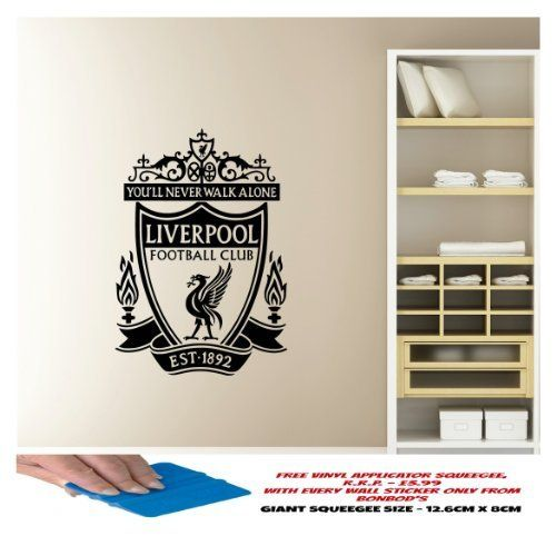 LIVERPOOL FC WALL STICKER HIGHLY DETAILED FOOTBALL CLUB LOGO LVFC BEDROOM, LOUNGE, HALL, KITCHEN, by BonBods, http://www.amazon.co.uk/dp/B00BKWB6ZK/ref=cm_sw_r_pi_dp_O1X0sb0H00HTX