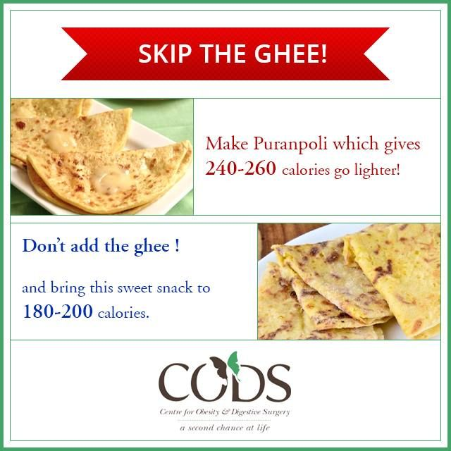 Enjoy puranpolis the CODS way! Skip the ghee and drop the calorie intake.  #CODSIndia #nutrition #Indianfoodcaloriemeter
