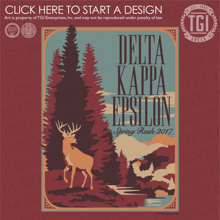Delta Kappa Epsilon | ΔKE | Spring Rush | Rush Shirt | TGI Greek | Greek Apparel | Custom Apparel | Fraternity Tee Shirts | Fraternity T-shirts | Custom T-Shirts