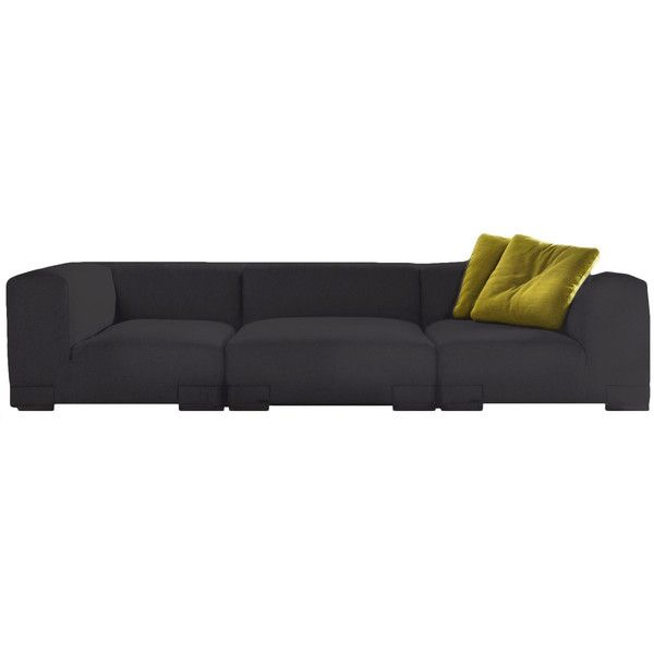 Small Sectional Sofa Kartell Plastics Sofa found on Polyvore
