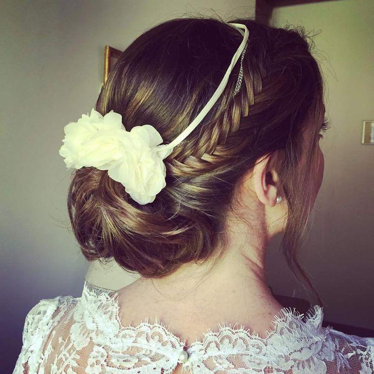 #mariée by Mel #Coiffure #Chignonbas #tresse #Maquillage #Updo #Makeup #bride