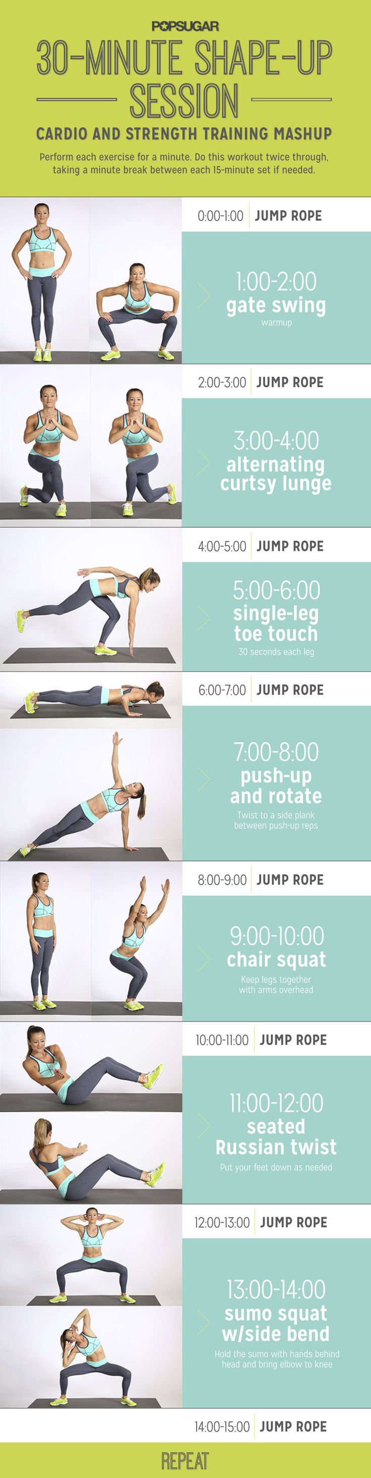 Jump rope strength workout