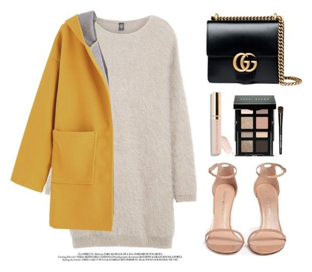 """Fashion"" by camillyraiterb ❤ liked on Polyvore featuring Eleventy, Stuart Weitzman, Bobbi Brown Cosmetics, Beautycounter and Gucci"