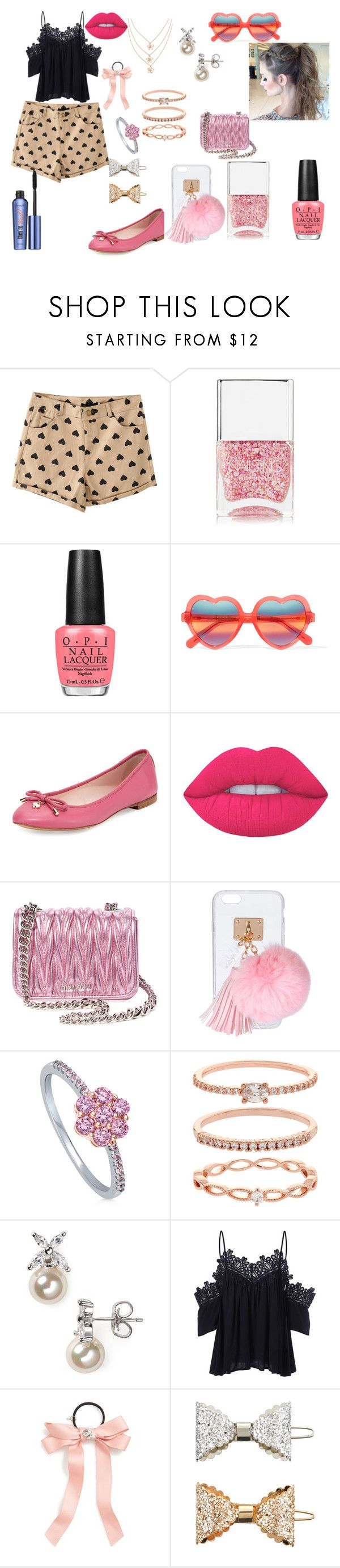 """""""Sem título #81"""" by sarah-hellen-meireles-oliveira on Polyvore featuring moda, Nails Inc., OPI, Cutler and Gross, Kate Spade, Lime Crime, Miu Miu, Ashlyn'd, BERRICLE e Accessorize"""