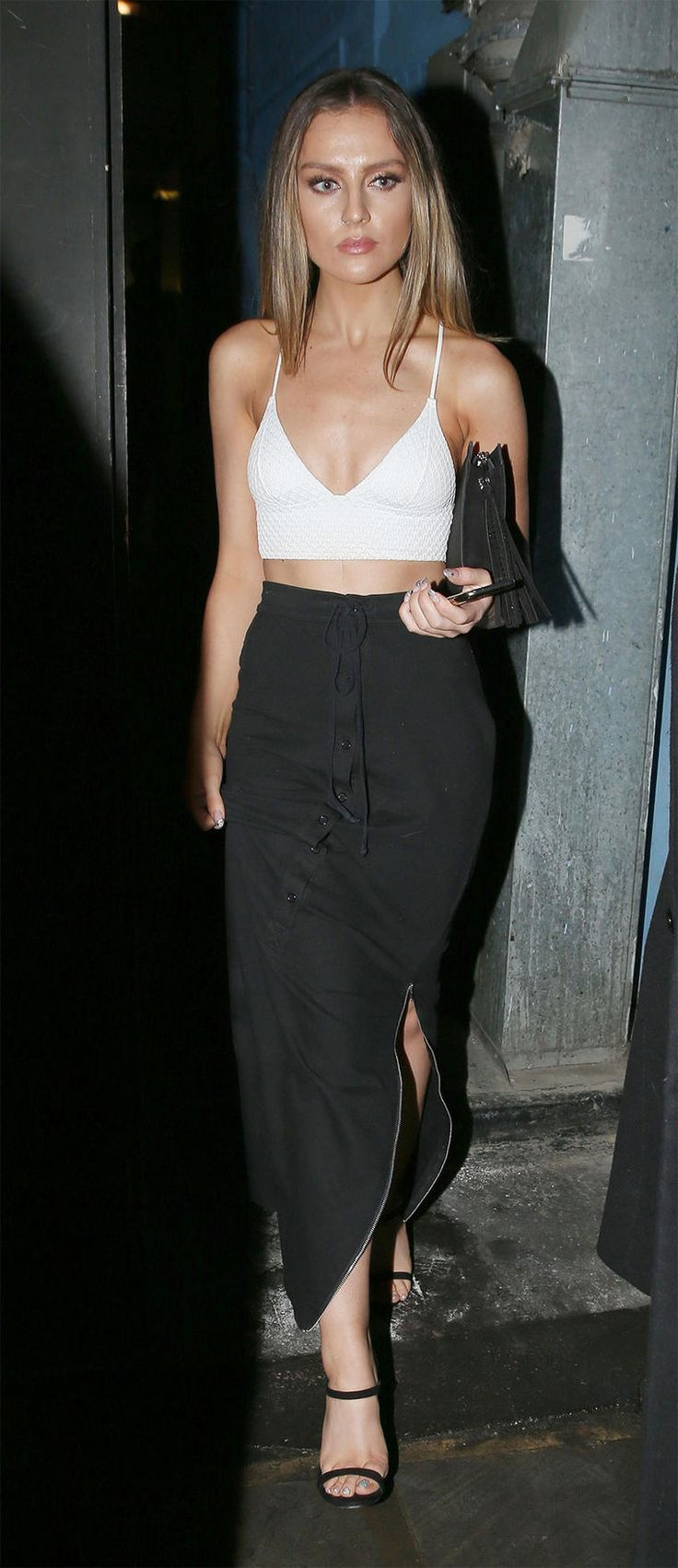 Perrie Edwards Looks Amazing In Monochrome On London Night Out | MTV UK