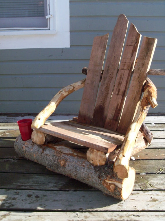 "Rustic Lounge Chair Beach Style Furniture ""Rustic Style"""