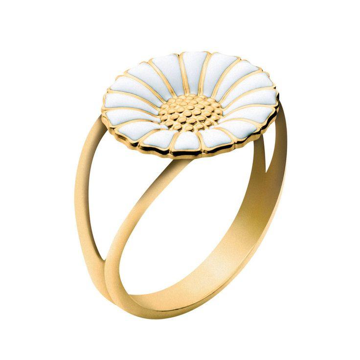Georg Jensen Gilded Silver Daisy Ring - 11 mm