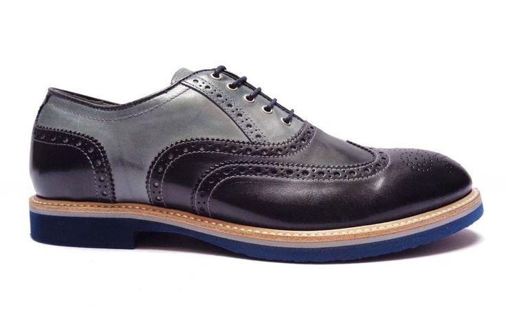 Nero Giardini P704842U scarpe da uomo francesine in pelle col. Blu multicolor   eBay